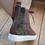 LACE UP SNEAKER ハラコ BROWN